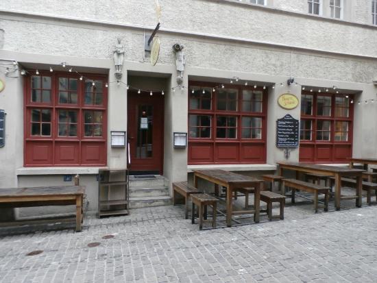 Restaurant sign and posted menu - Picture of Bauernschanke, Zurich ...