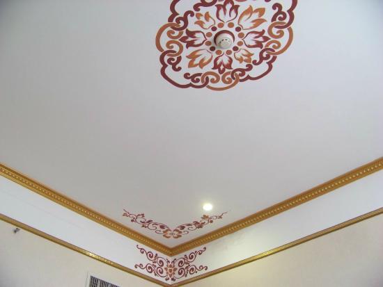Zhaxidele Hotel: Hotel room ceiling