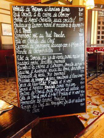 Le Beaujolais d'Auteuil : Menu