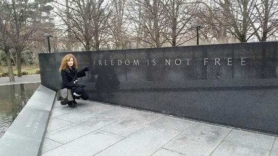 Korean War Veterans Memorial : Freedom is not free!