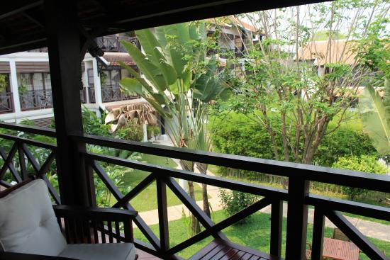 Ansara Hotel: Looking out from our 2nd Floor Balcony