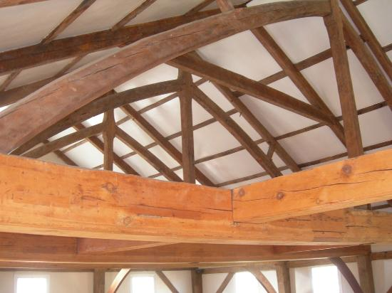 The Historic  1717 Meetinghouse: Exposed beam construction