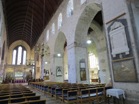St. Mary's Cathedral: Looking east, toward the High altar, with it's 13 ft solid limestone altar.  Oldest part of the