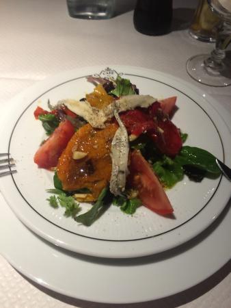 Ciao a te: Une bonne salade avec des produits frais et l'huile d'olive était extrêmement léger et bon.