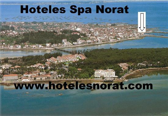 Hotel Spa Norat O Grove: ubicacion ideal