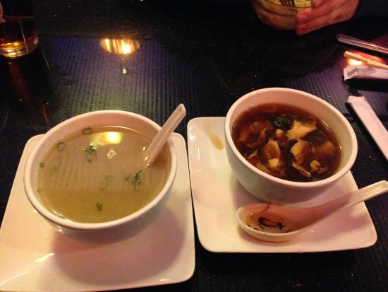 East Moon Asian Bistro: Miso and Hot and Sour Soup