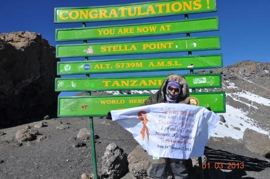 Kilimanjaro National  Park, Tanzania: Finally, up there although I didn't make it to Uhuru peak-:(