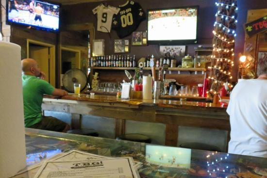 That Boy Good : Bar area with sports on three TVs