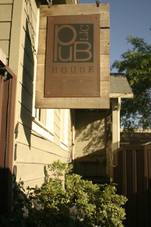 PUBlic House is true to it's name: a renovated and converted house to a Gastropub Restaurant.