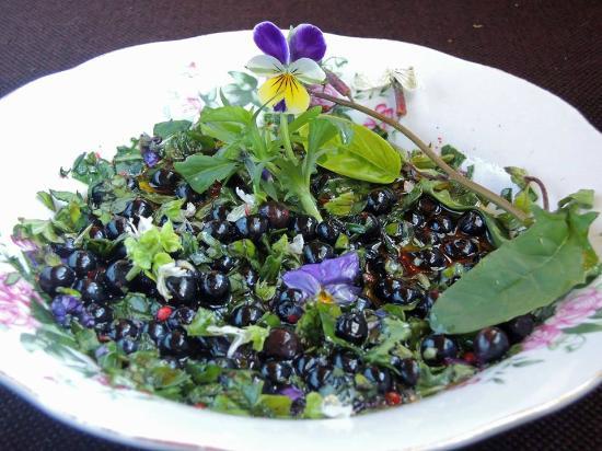 Lonkot Bucolic Resort: Blueberry, violet and basil salsa