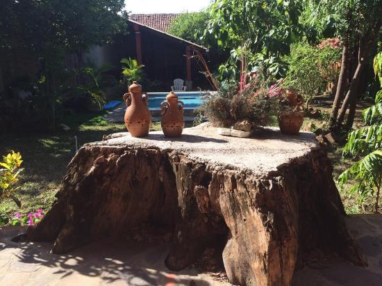 Hotel Leon Viejo: Garden and pool area.