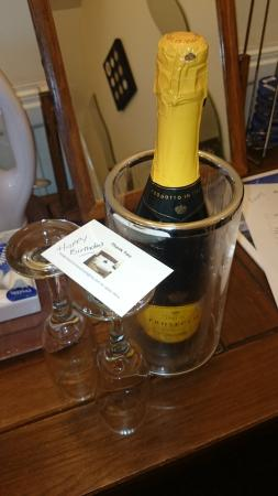 Annisgarth Bed and Breakfast: birthday greetings from the owners, how kind and thoughtful!!