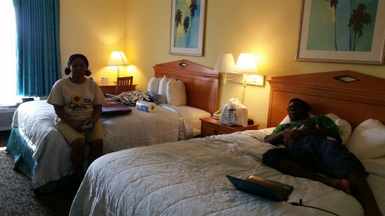 Travelodge Pensacola Beach: My family in room 404