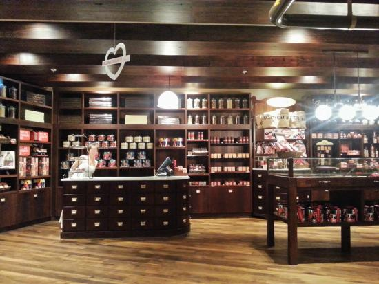 Max Brenner Chocolate Bar - Tuggerah: The Max Brenner store within the shop