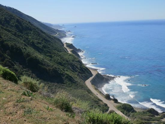 The Hacienda: View of Highway 1 from Fergusson Nacimiento Road