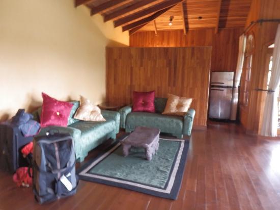 Hotel Mimos: Chambre : le salon