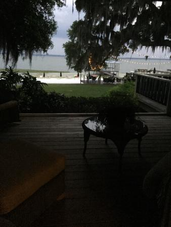 The Nest on Lake Weir : View from our room.  Out the porch to the water
