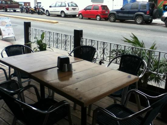 Paprika Mexican & Caribbean Cuisine: Seating on the sheltered patio