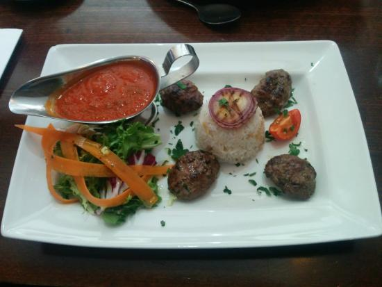 Olive & Thyme: Grilled Kofte from the lunch menu