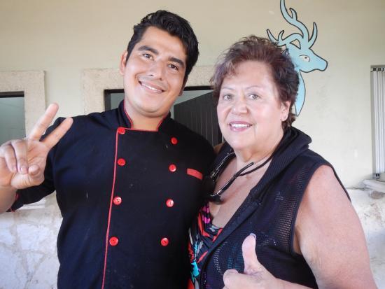 Blue Venado Beach Club: Carol Kemp with Chef Angelo