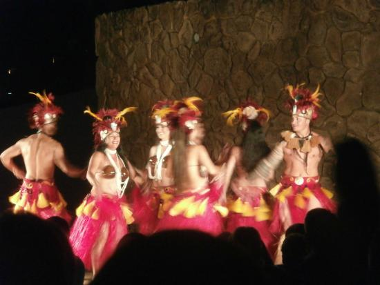 The Grand Luau at Honua'ula : the beginning scene in the show