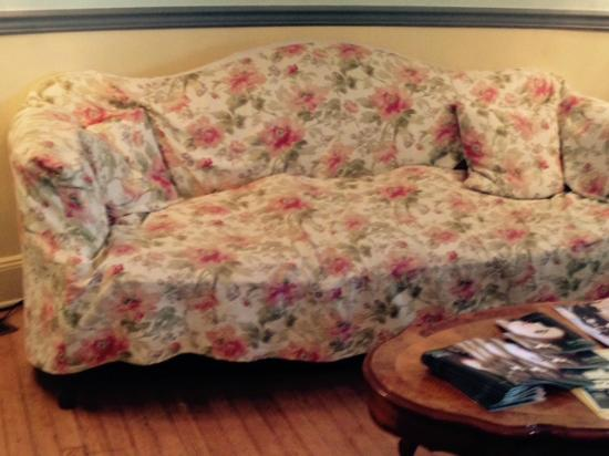 The Grenville: This is what the sofa in the lobby looks like. Zoom in