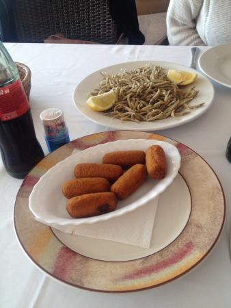 Hotel Restaurant Sant Pol : Croquetas de pollo! Buenísimas!!