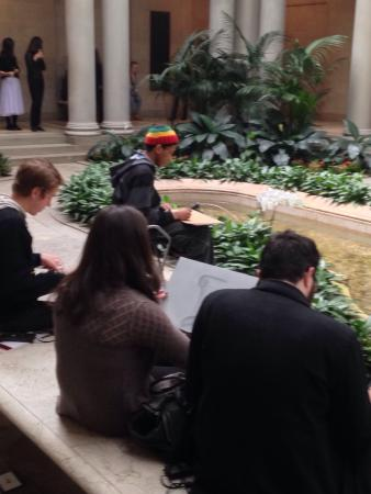 Frick Collection: Free art supplies for sketching when we visited.