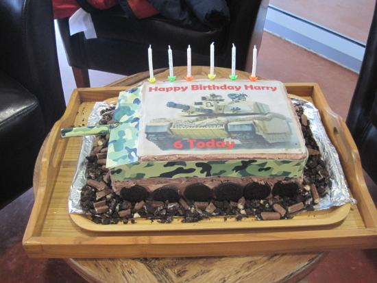 Admirable The Birthday Cake Picture Of The Tank Museum Bovington Birthday Cards Printable Riciscafe Filternl