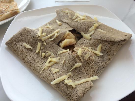 La Crepe: Saint Jacques in buckwheat