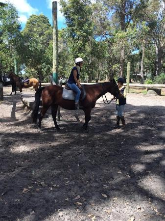 Jesters Flat: First time on a horse!