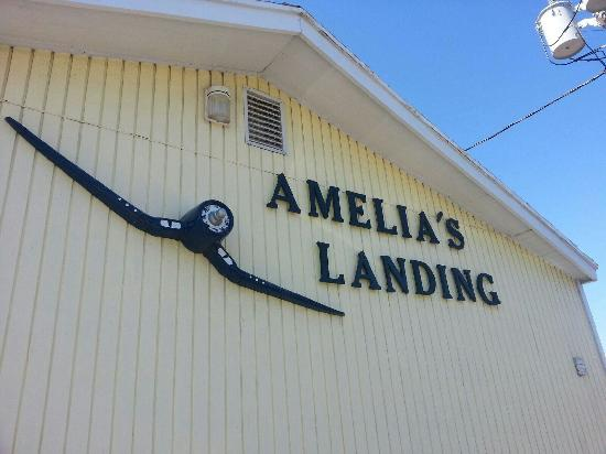 Amelia's Landing Hotel: The first was taken from my door and shows the proximity to our vehicles. The second is the view