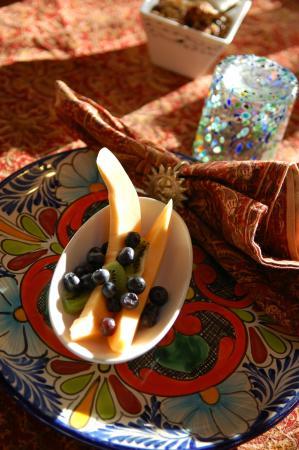 La Posada de Taos B&B: La Posada de Taos - first course of breakfast