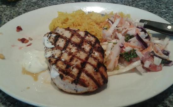 Harvester Centertainment: The chargrilled chicken with pilau rice