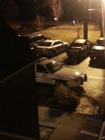 Microtel Inn & Suites by Wyndham Florence/Cincinnati Airport: 1 of 3 police cars outside when I arrived.