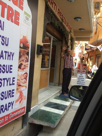 Raju at Bharti Massage Center in Udaipur