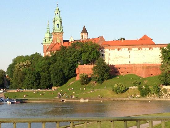 Krakow Trips by Paulo & Tom - Day Tours: The Wavel pictured from the car-window.