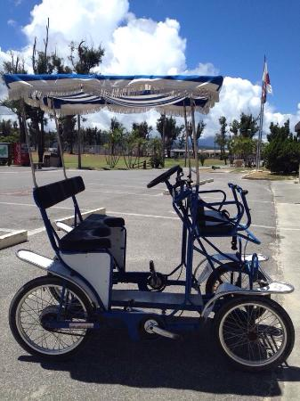 Okuma-machi, Japón: Buggy bikes are available to rent- lots of fun and lots of laughs!