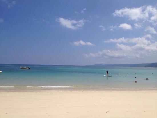 Okuma-machi, Japón: Literally a three minute walk from our studio to this main beach! Stunning! Calm, quiet beach