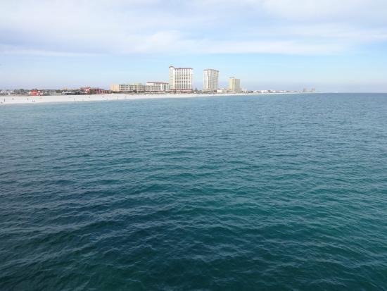 Pensacola Beach Gulf Pier: Вид с пирса