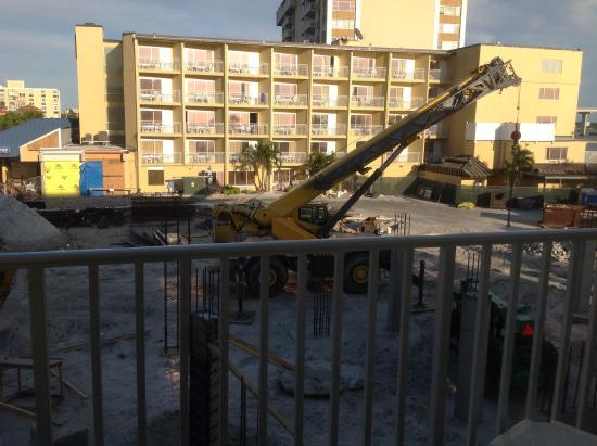 GulfView Hotel - On The Beach: Construction site from window.