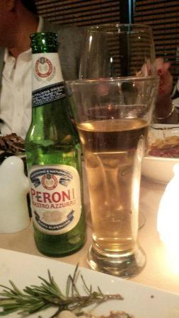Da Vinci Ristorante Italiano: Delicious Peroni, Italian Beer