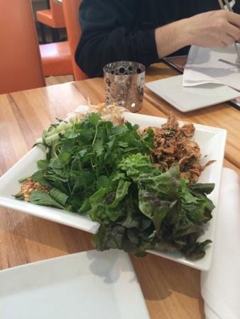 Sesame Asian Kitchen: chicken lettuce wraps