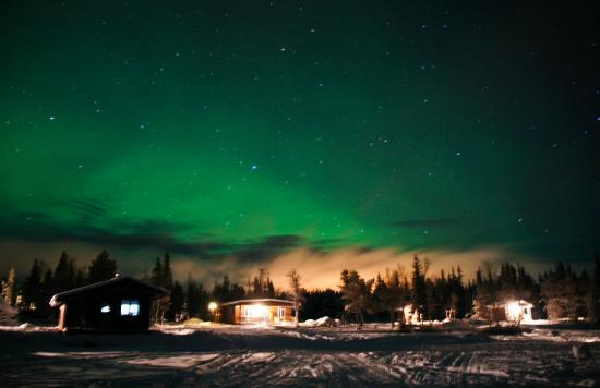 Camp Alta: Northernlight over the Camp