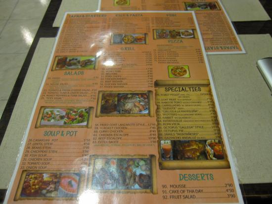 Grill-Restaurante M'es Igual: MENU