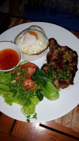 blu bar & grill : Pork Chop with Rice