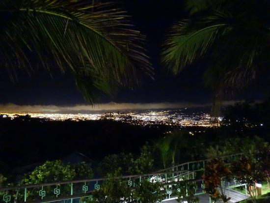 Alajuela, Costa Rica: view on San José from hotel garden