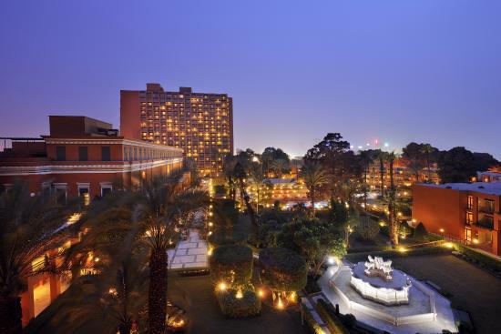 Cairo Marriott Hotel & Omar Khayyam Casino  Night Facade