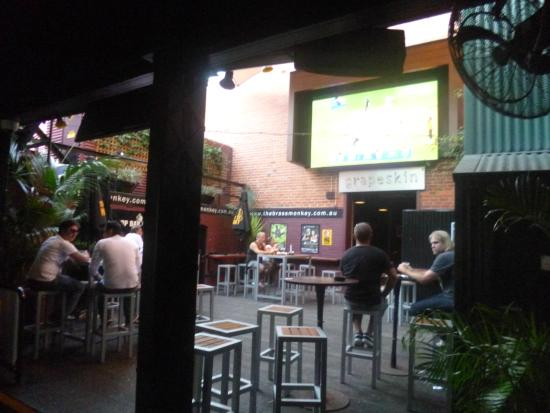 Brass Monkey: One of the giant screens