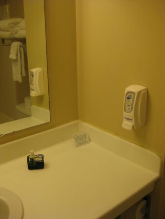 Mahnomen, MN: Liquid soap near sink area